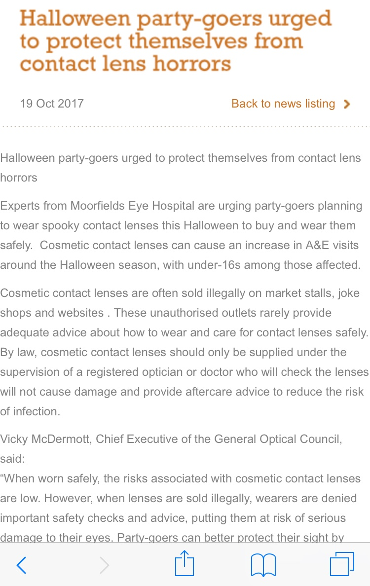 GOC Halloween CL Warning
